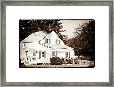 Little White House Framed Print by John Rizzuto