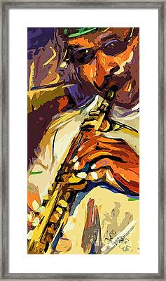 Live Horn Session #1 Framed Print by Ginette Callaway