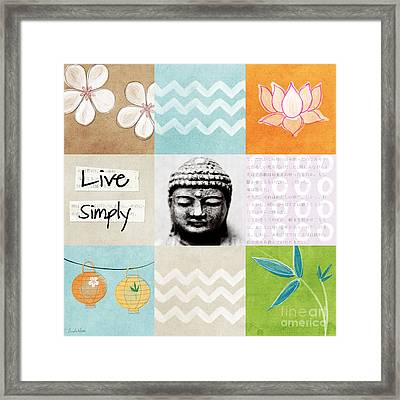 Live Simply Framed Print by Linda Woods