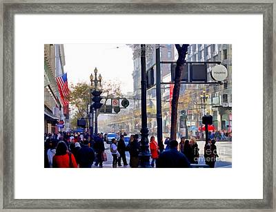 Lively Market Street In San Francisco . 7d4268 Framed Print by Wingsdomain Art and Photography