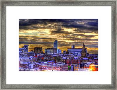 Liverpool At Nite Framed Print by Barry R Jones Jr