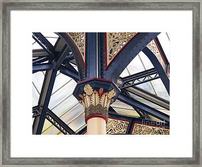 Liverpool Street Skylight Framed Print by Ann Horn