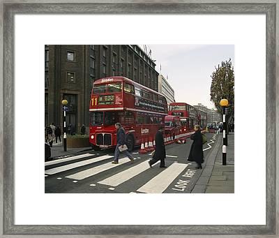 Liverpool Street Station Bus - London Framed Print by Daniel Hagerman