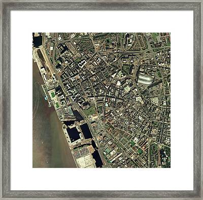 Liverpool, Uk, Aerial Image Framed Print by Getmapping Plc
