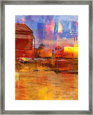 Living Abroad Is A Trip Framed Print by Fania Simon