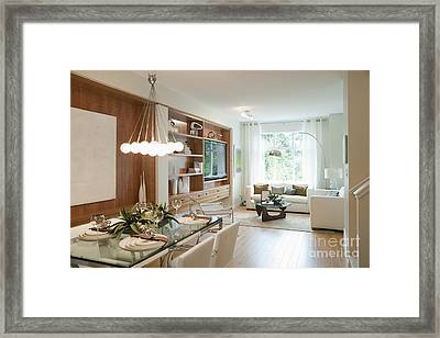 Living And Dining Area Framed Print by Shannon Fagan
