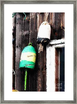 Lobster Buoys Framed Print by Betty LaRue