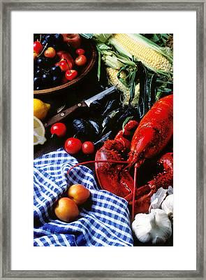 Lobster Framed Print by Garry Gay
