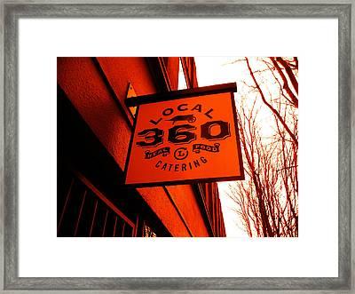 Local 360 In Orange Framed Print by Kym Backland