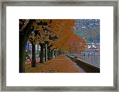 Locarno In Autumn Framed Print by Joana Kruse