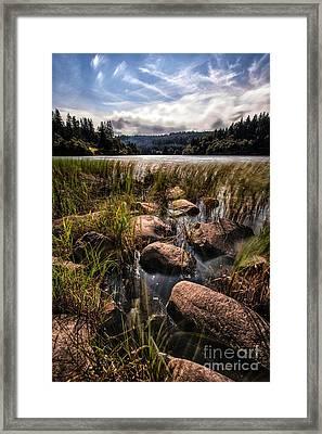 Loch Ard From The Reed Beds Framed Print by John Farnan