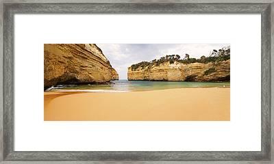 Loch Ard Gorge Beach Framed Print by Visual Clarity Photography