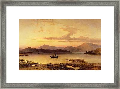 Loch Etive From Bonawe In The Evening Framed Print by George Edwards Hering