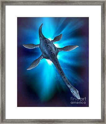 Loch Ness Monster Framed Print by Victor Habbick Visions and Photo Researchers