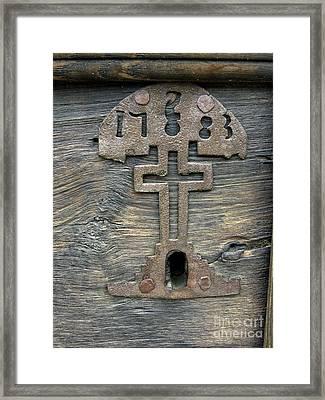 Lock Of Church Framed Print by Bernard Jaubert