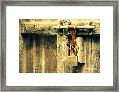 Locked And Abandoned - 2 Framed Print by Vishakha Bhagat