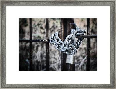 Locked Out Again Framed Print by Joan Carroll