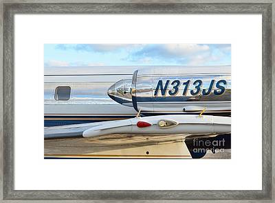 Lockheed Jet Star Engine Framed Print by Lynda Dawson-Youngclaus