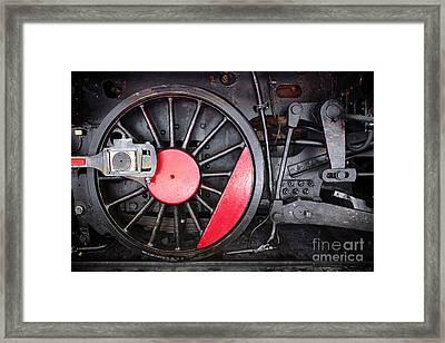 Locomotive Wheel Framed Print by Carlos Caetano