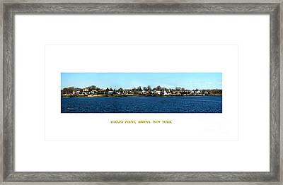 Locust Point Bronx New York Framed Print by Dale   Ford