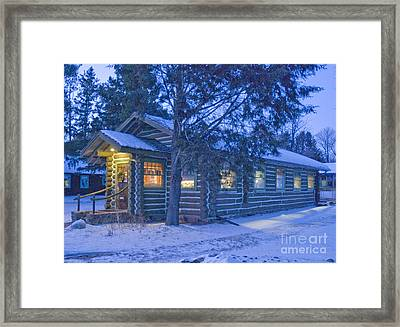 Log Cabin Library 1 Framed Print by Jim Wright