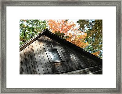 Log Cabin Framed Print by Sheryl Burns