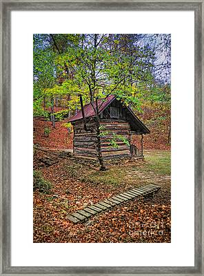 Log Shed Renfro Valley Ky Framed Print by Anne Kitzman