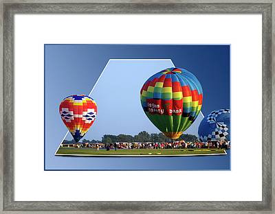 Logan County Bank Balloon 05 Framed Print by Thomas Woolworth
