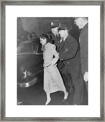 Lolita Lebron B. 1919, Under Arrest Framed Print by Everett
