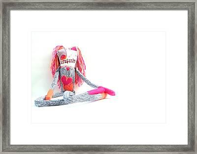 Lollipop The Zombie Raver Framed Print by Oddball Art Co by Lizzy Love