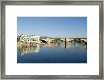 London Bridge And Reflection II Framed Print by Gloria & Richard Maschmeyer