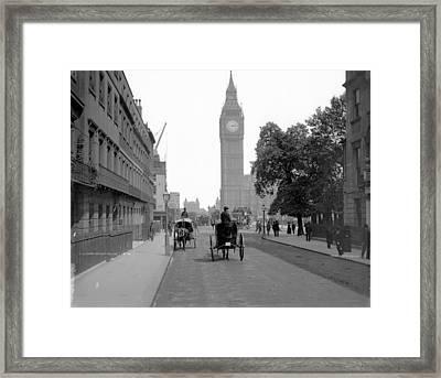 London Cab Rides Framed Print by London Stereoscopic Company