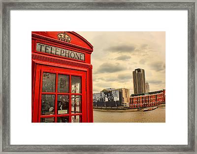 London Calling Framed Print by Jasna Buncic