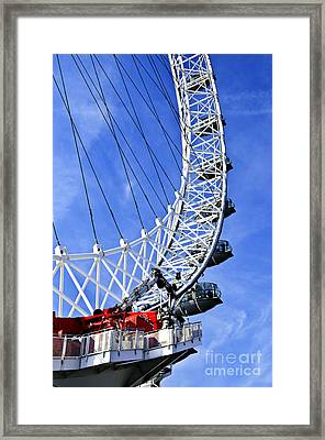London Eye Framed Print by Elena Elisseeva