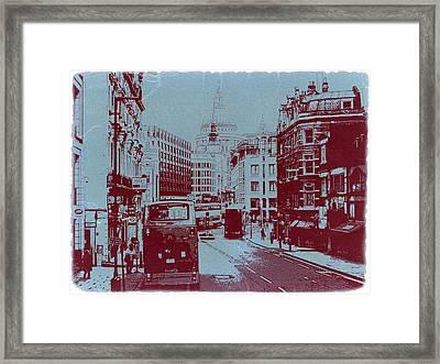London Fleet Street Framed Print by Naxart Studio
