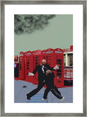 London Matrix Punching Mr Smith Framed Print by Jasna Buncic