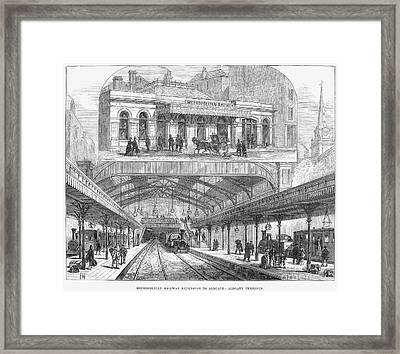 London: Railway, 1876 Framed Print by Granger