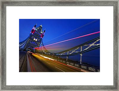 London Tower Bridge Framed Print by Nina Papiorek