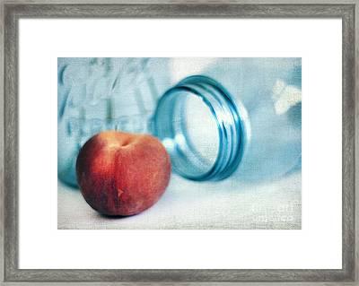Lone Peach Framed Print by Darren Fisher