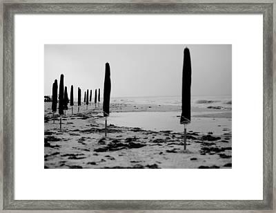 Lonely Beach Framed Print by Toni Hopper