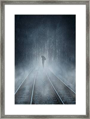Lonely Figure Framed Print by Svetlana Sewell