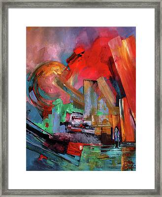 Lonely In The Big City Framed Print by Miki De Goodaboom