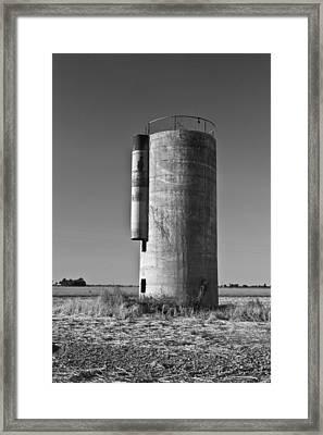 Lonely Silo 6 Framed Print by Douglas Barnett