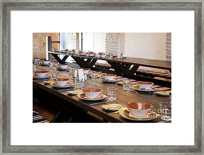 Long Dining Room Tables Framed Print by Jaak Nilson