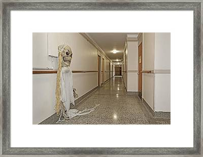 Long Hallway In 1927 Building Framed Print by Douglas Orton