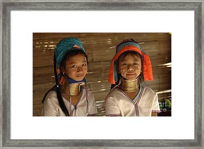 Long Neck Girls Framed Print by Bob Christopher