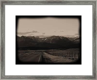 Long Road Home Framed Print by Jonathan Lagace