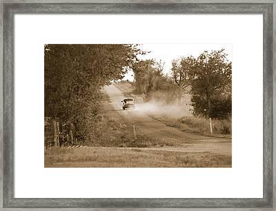 Long Road Home Framed Print by Teresa Dixon