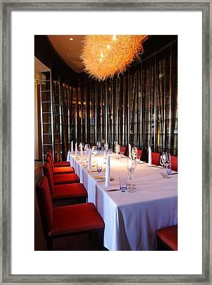 Long Table Framed Print by Atiketta Sangasaeng