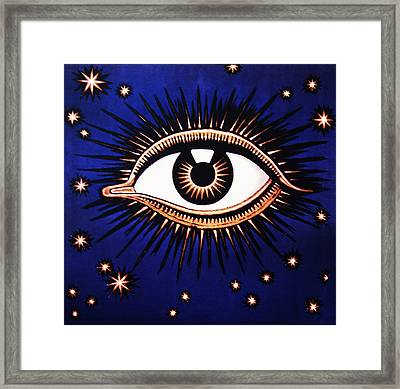 Look Em In The Eye Framed Print by Bill Cannon